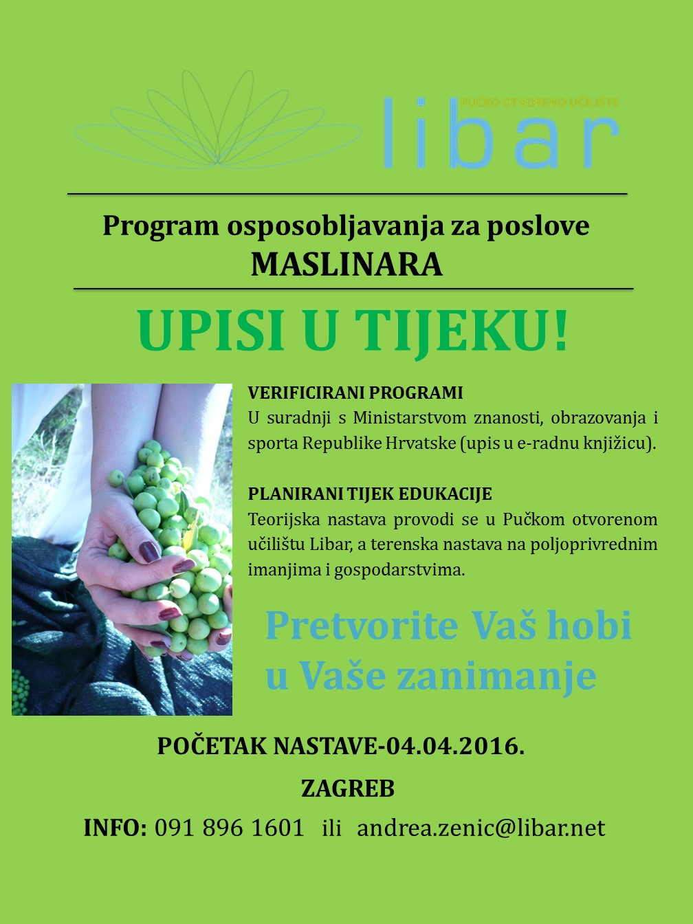 PROGRAM OSPOSOBLJAVANJA - MASLINAR/KA