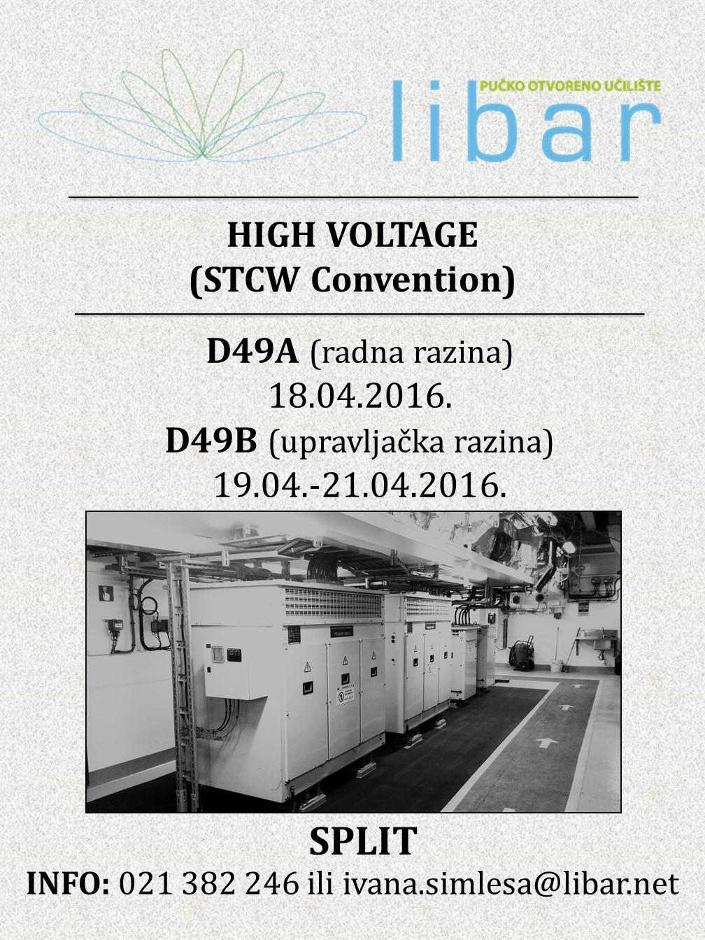 HIGH VOLTAGE TEČAJ (D49A I D49B)