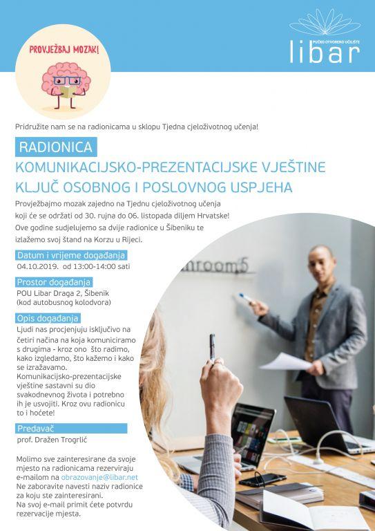 RADIONICA: Komunikacijsko-prezentacijeske vještine - Ključ osobnog i poslovnog uspjeha