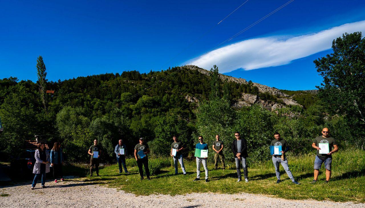 Turistička valorizacija-Dodjela uvjerenja članovima ŠRD Knin